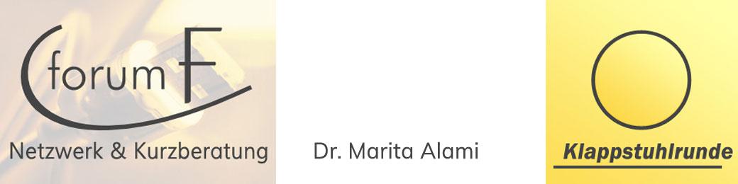 Klappstuhlrunde – Netzwerken und Kurzberatungen - Anregungen und Ideen im Netzwerk sowie Kurzberatungen von Dr. Marita Alami rund um Internet und Vereinsmanagement